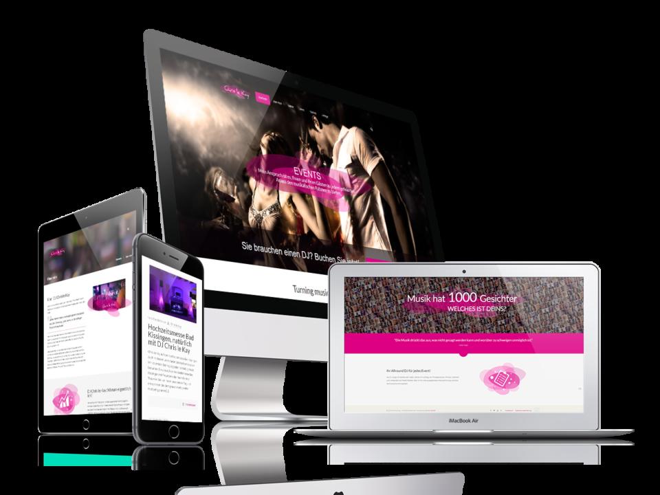 Webdesign und Programmierung Dj ChrisLeKay von Divinci in Schweinfurt