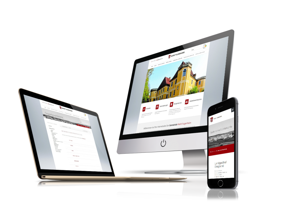 Smartphonefähiges Webdesign und Programmierung für Gemeinde Sugenheim von Divinci in Schweinfurt