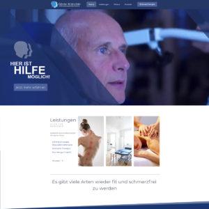 Webdesign und Programmierung Physiotherapie Günter Kränzlein