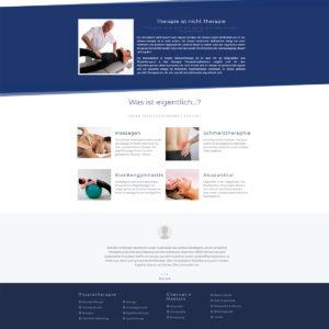 Webdesign und Programmierung für Günter Kränzlein Physiotherapie von Divinci in Schweinfurt