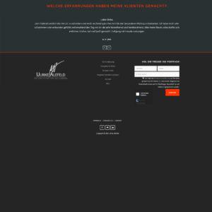 Webdesign und Programmierung für Atelier Alefeld von Divinci in Schweinfurt