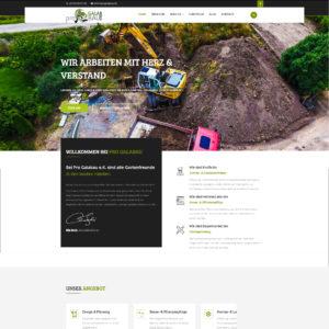 Webdesign und Softwareprogrammierung für ProGalaBau von Divinci in Schweinfurt
